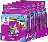 Whiskas Comida para Gatos Adultos, para Gatos a Partir de 1 Año (5 x 800 g)