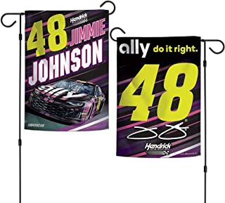 Win-craft Jimmie Johnson 2019 Ally Two Sided NASCAR Garden Flag