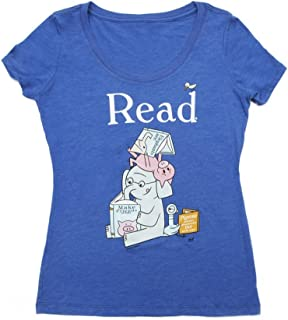 Women's Classic Children's Book-Themed Scoop Neck Tee T-Shirt