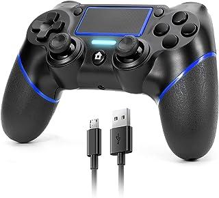 Manette sans fil pour PS4,JORREP manette de jeu Compatible avec console Playstation 4/Pro/Slim,avec prise audio,panneau ta...