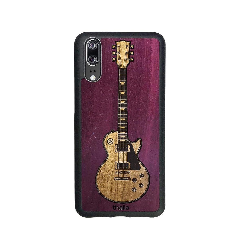 Purpleheart & Les Paul Hawaiian Koa Inlaid Guitar Phone Case   Thalia Exotic Wood Cases Huawei P20