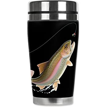 Leaping Fish Mugzie brand 16-Ounce Cocktail Shaker with Insulated Wetsuit Cover black