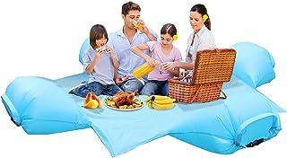 Portable Beach Mat Air Pillow, Picnic Blanket Inflatable Pillow Waterproof Lightweight Foldable Beach Travel Hiking Campin...
