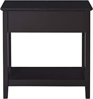 Home & More New Unique Chic Durable Modern Freestanding Wooden Countertop Side Table with Storage Accent