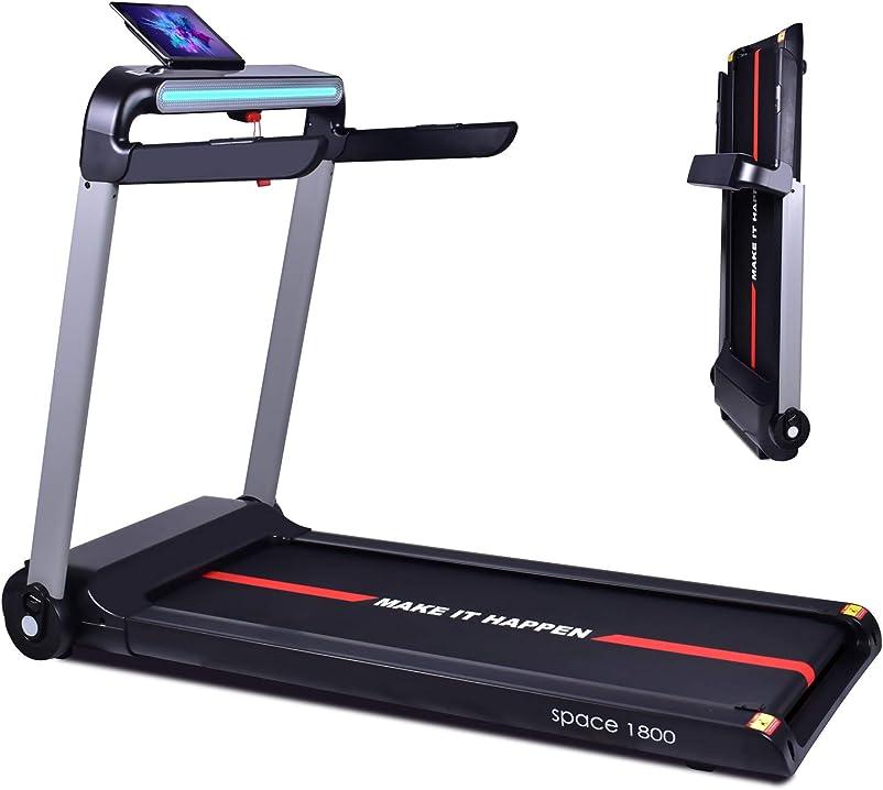 Tapis roulant elettrico 1800w pieghevole ultra piatto ,display touch screen,supporto ipad,cardiofrequenzimetro B08HH982TZ
