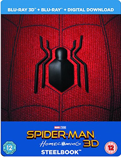 Spider-Man Homecoming 3D (Includes 2D Version) - Limited Edition Steelbook + Resin Magnet + Comic Book Blu-ray [2017] [Region Free]