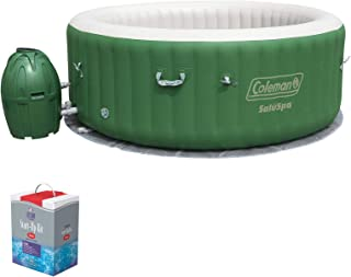 Coleman SaluSpa 6 Person Inflatable Outdoor Spa Hot Tub w/Chlorine Starter Kit