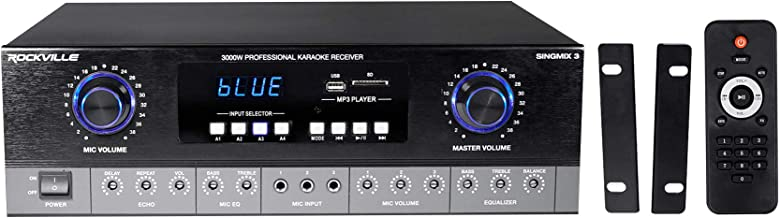 Rockville SingMix 3 3000 Watt Home Theater Receiver w/Bluetooth/Echo/Mic inputs
