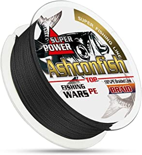 Ashconfish Braided Fishing Line – Real Color Fastness – 4 & 8 Braids/Strands – from 6lb 8lb to 300lb – Abrasion Resistant Braided Lines – Incredible Superline – Zero Stretch – Smaller Diameter
