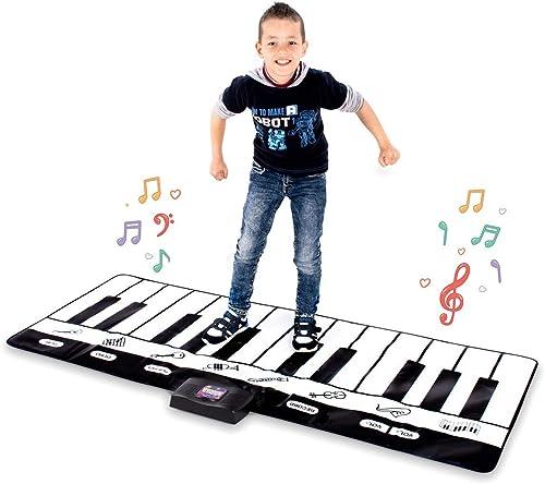 GRASSAIR Giant Musical Piano Spielmatte, Activity Pad für Keyboard Piano 24 Tasten, 4 Modi, 8 in 1 Musikinstrumente für Kinder von 3 bis 14 Jahren