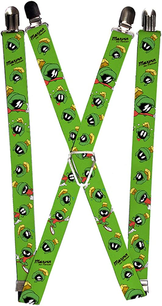 Buckle-Down Suspenders-Marvin The Martian W/Poses/Expressions Green