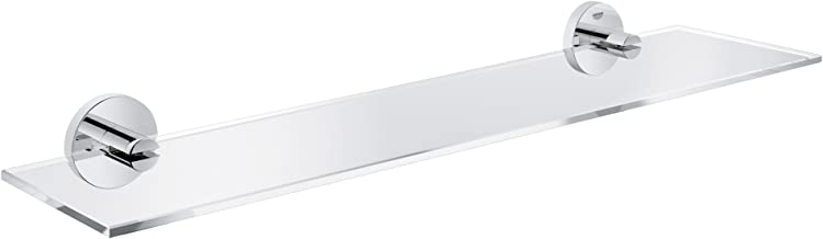 GROHE Essentials badkamer accessoires -glazen plank (materiaal: glas/metaal) chroom, 40799001