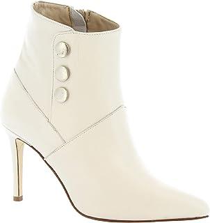 Leonardo Shoes Botines de tacón para Mujer artisanales en Piel Blanca - Número de Modelo: