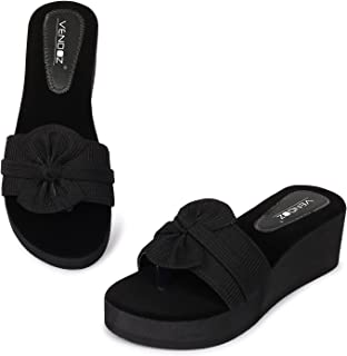 Vendoz Women Black Wedges