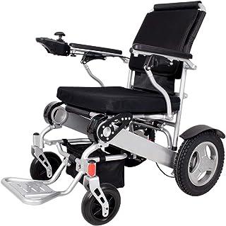 Silla de ruedas eléctrica plegable ligera, Silla de ruedas de movilidad de movilidad compacta de poder portátil de Deluxe, batería dual, rango de conducción más largo baterías de litio solo 26.50kg