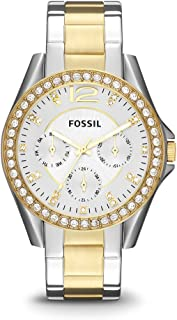 Fossil Women's Riley Stainless Steel Chronograph Glitz...