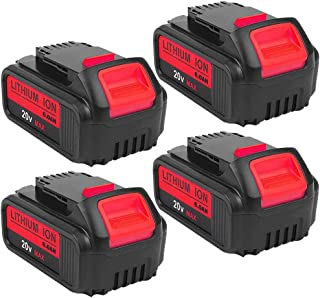 4Pack 20V DCB205 6000mAh Replacement Battery for Dewalt 20-V OLT Lithium Battery Max XR DCB204 DCB205 DCB206 DCB205-2 DCB201 DCB203 DCB181 DCB180 DCD/DCF/DCG/DCS Series Cordless Power Tools