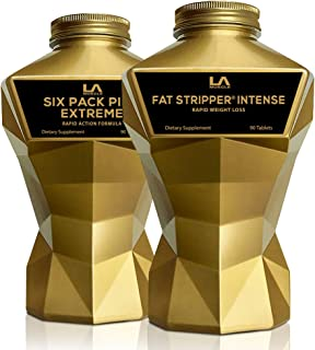 LA MUSCLE Six Pack Extreme Max Intensity - Strong Supplement Stack Veggie Vegan Pills