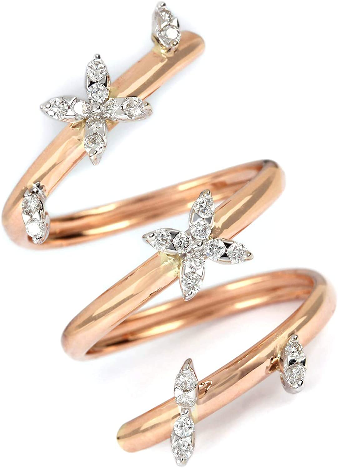 ASHNE JEWELS IGI Certified, 0.33ct Natural Diamond Ring Designer Fine Jewelry Made in 18K Solid Rose Gold For Women and Girls