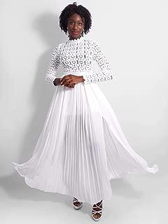 Celestial Lace Long Sleeve Slit Dress