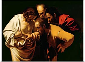 GREATBIGCANVAS Poster Print Entitled The Incredulity of St. Thomas, 1602-03 by Michelangelo Caravaggio 16