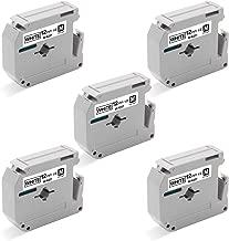Unismar M Tape M-K231 M-231 MK231 MK-231 12mm 0.47'' White Label Tape Compatible for Brother P-Touch PT-M95 PT-65 PT-90 PT-85 PT-80 PT-70 PT-70BM PT-45 PT-100 PT-110 Label Maker, 1/2'' x 26.2', 5-Pack