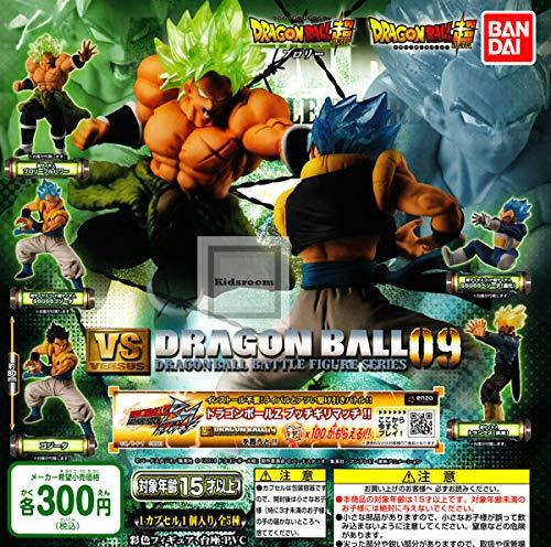 Dragonball Super Conjunto Completo 5 Figuras Colección Versus Battle Figures Series 09 Bandai Gashapon