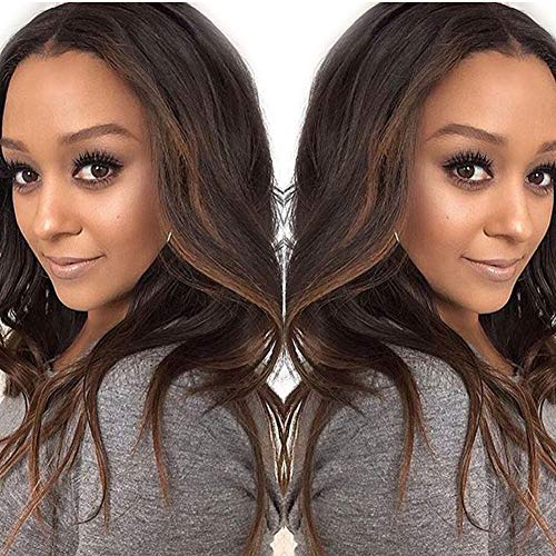 7A Glueless Ombre Lace Front Human Hair Wigs For Black Women Highlights Loose Wave Braizlian Ombre Human Hair Lace Wigs 130% Density 12inch
