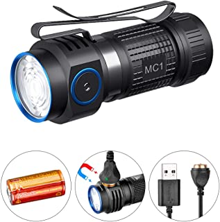 TrustFire MC1 1000 Lumens CW Rechargeable LED EDC Flashlight with Included IMR16340 Battery and Magnetic USB Charging Cable