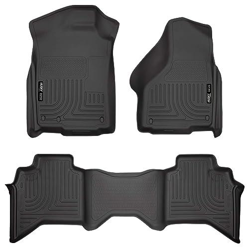 Husky Liners 99011 Black Weatherbeater Front & 2nd Seat Floor Liners Fits 2009-2018 Dodge Ram 1500 Quad Cab, 2019 Dodge Ram 1500 Classic Quad Cab