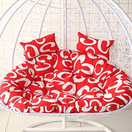 J-Kissen Stuhlkissen ohne Fuß dick hängenden Korb PP Baumwolle gefüllt Stuhlkissen, Swing Sitzkissen Schaukelstuhl zurück, mit Kissen (Color : H, Size : 145x110cm(57x43inch))