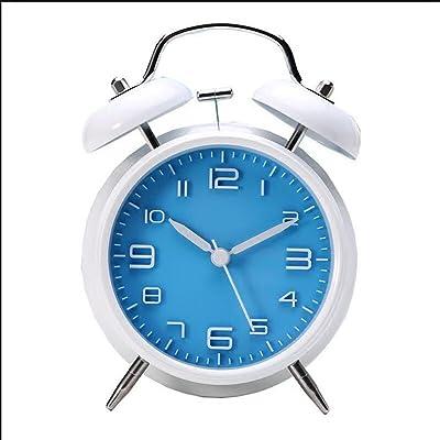 XINGUANG Reloj Despertador de Metal de 4 Pulgadas Mute Night Light Creativo Reloj de Alarma de