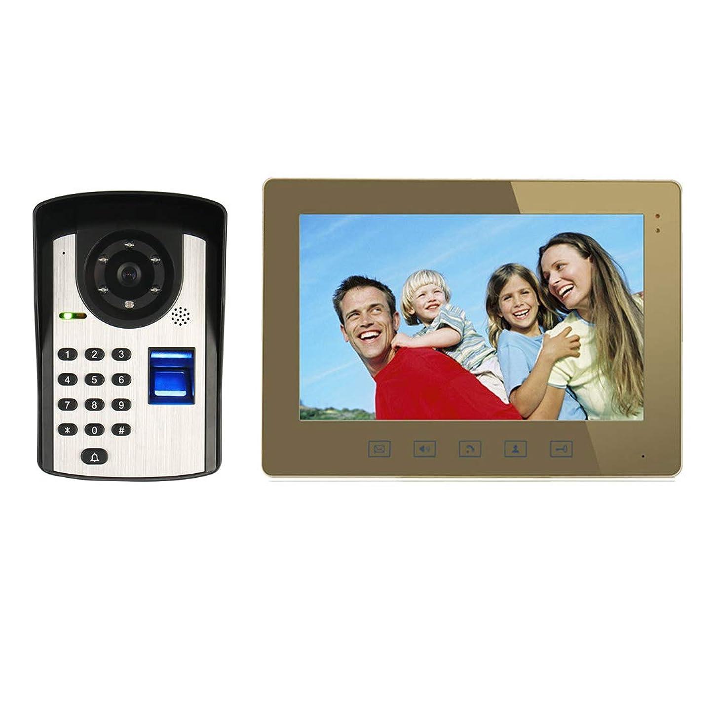 JINPENGPEN 10 inch Video doorbell Telephone intercom System Fingerprint Recognition Remote Unlock Night Vision Function Home Monitoring
