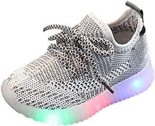 Sameno LED Baby Shoes 1-6 T Light Up Luminous Breathable Walking Shoes Soft Sole Sneakers Gifts for Toddler Boys Girls