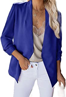 Howely Women Casual Office Open Front Cardigan Loose Small Blazer