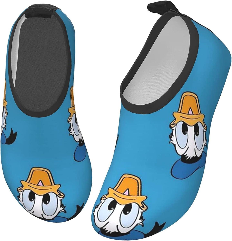 ZSCFBJM Donald Duck Toddler Kids Water Shoes Non-Slip Quick Dry Barefoot Aqua Socks Beach Swimming Surf Walking for Boys Girls