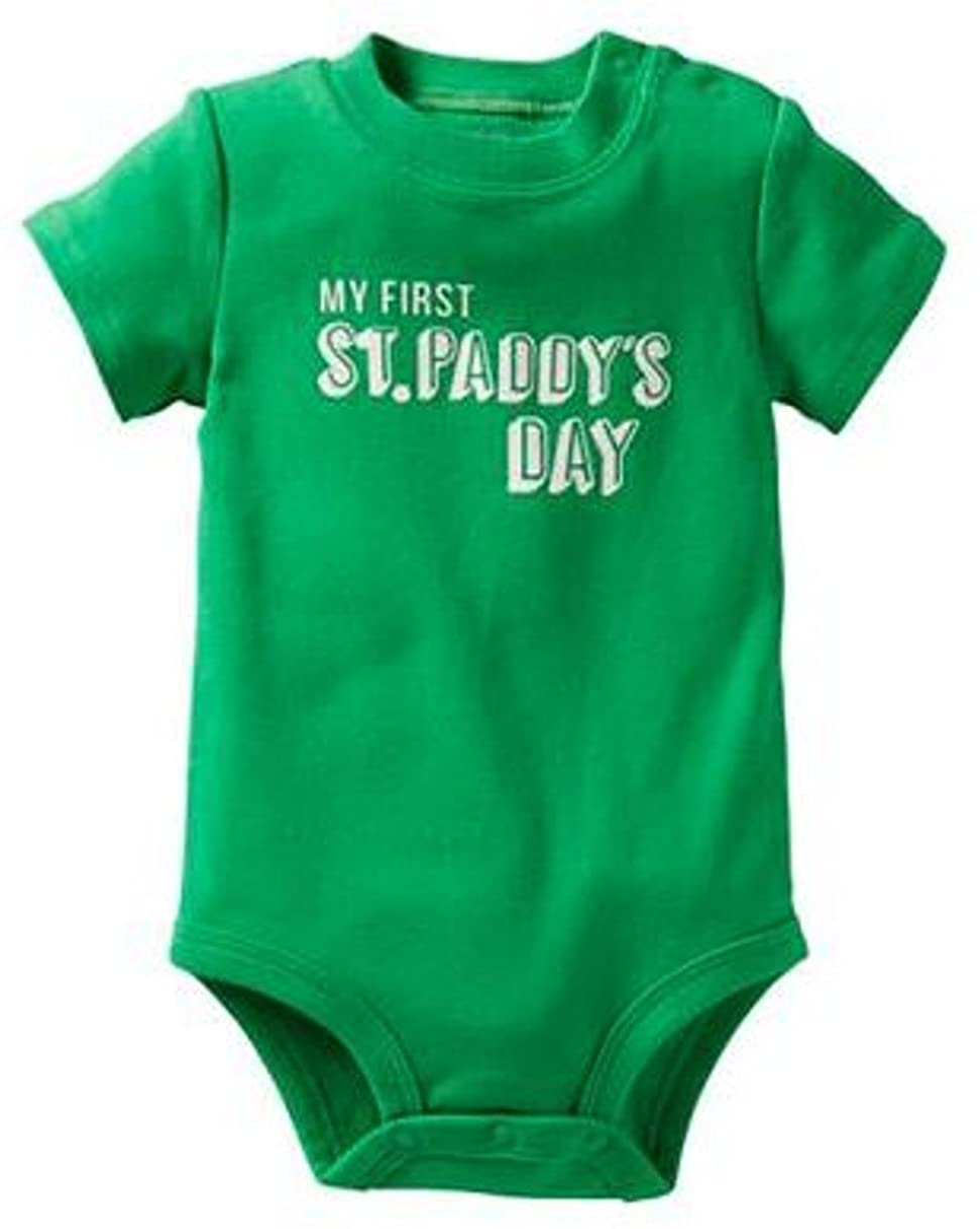 Grandchild FREE SHIPPING New Baby Irish Patrick/'s Day Baby Shower Gift Lucky Gray Baby Bodysuit New Parents My 1st St New Mommy