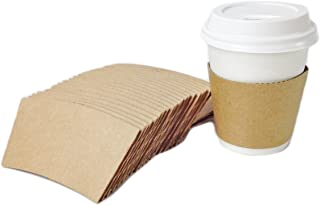 Black Cat Avenue 50 Count Kraft Brown Hot Cup Sleeves For 8oz Disposable Coffee Cup Holder Sleeves Paper Coffee Cup Jackets
