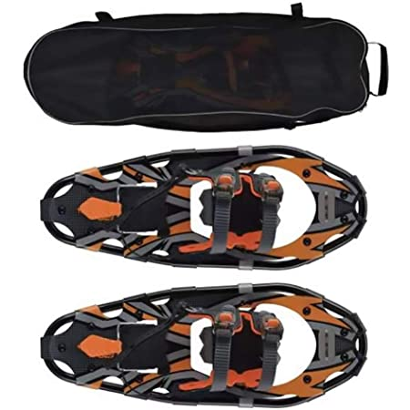 XYLUCKY 25 Zoll 5-in-1 Xtreme Lightweight Terrain Schneeschuhe Terrain Schneeschuhe aus Aluminiumlegierung mit Trekkingst/öcken und Skihandschuhen und Wasserdichten Beingamaschen