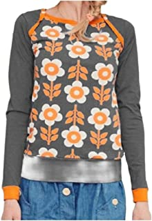 Comaba Womens Blouse Fall Winter Cozy Floral Spring Plus Size Fitness Tees