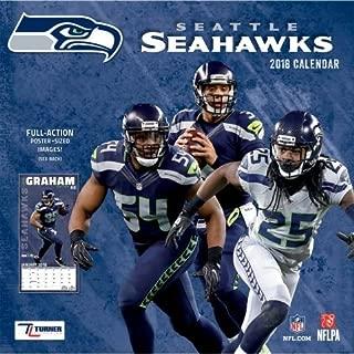 2018 Seattle Seahawks NFL Team Wall Calendar