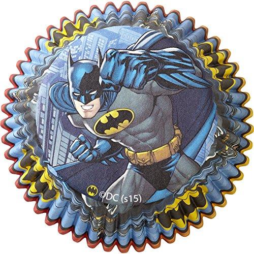 Wilton Backförmchen Batman, 50 Stück, mehrfarbig