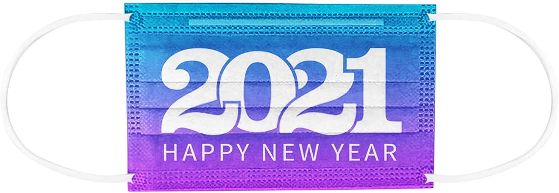 Capa Una Vez Bufanda De Cara 2 + 1 Un Paquete De 50 Tabletas Adult Happy New Year 2021