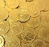 CrazyOutlet Gold Coins Milk Chocolate Candy, Large 1.5 Inch, Bulk...