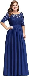 Women Plus Size Chiffon Evening Dresses Long Prom Bridesmaid Gown