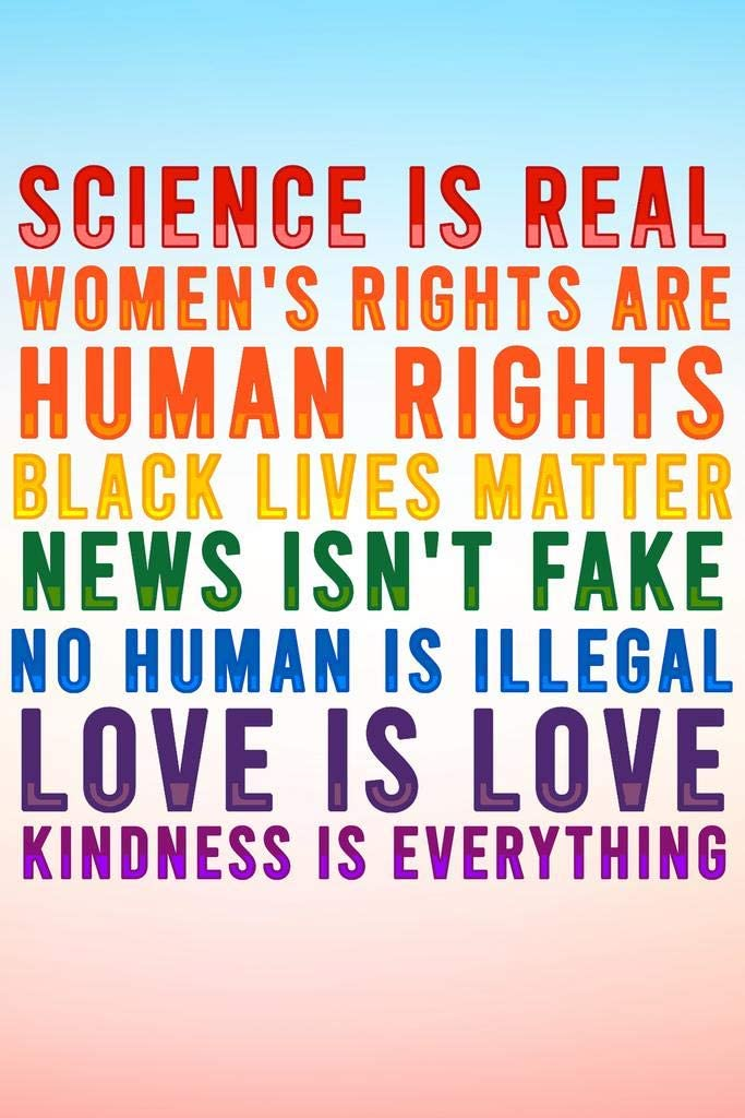 Poster Foundry Science is セール商品 Real Womens Matter Lives Rights 安心の定価販売 Black