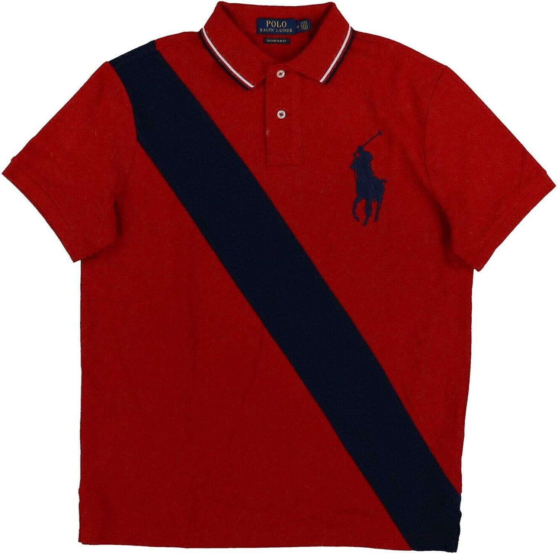 Polo Ralph Lauren Mens Big Pony Custom Slim Fit Sash Polo Shirt