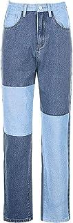 Geagodelia - Pantalones vaqueros para mujer, pantalones rectos de Denim Causal S-XXL, cómodos otoñales e invierno, multicolor