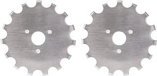 Dafa 45mm Crochet / Wide Skip Blades, 2 Perforating Rotary Cutter Blades Per Pack