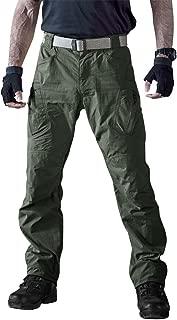 TACVASEN Men's Outdoor Quick Dry Water Repellent Assault Cargo Military Hiking Pants